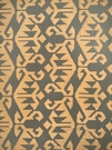 VERVAIN CARPET EMBROIDERED LINEN FABRIC GREYSTONE