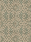 VERVAIN CASTELLI ETHNIC CHIC IKAT FABRIC TEAL