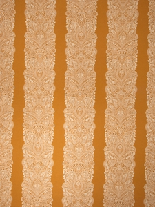 VERVAIN CHANTILLY WOVEN FLORAL FABRIC PUMPKIN