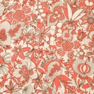 VERVAIN DECO LINEN FLORAL FABRIC CANDYAPPLE