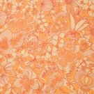 VERVAIN DECO LINEN FLORAL FABRIC PERSIMMON