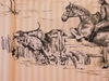 VERVAIN ELWAY HALL TOILE BD HUNTING HORSE DOG COTTON PRINT FABRIC LOCUST