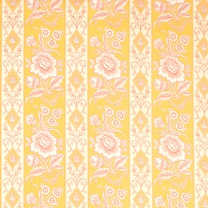 VERVAIN ELYSEE ON LINEN FLORAL FABRIC HONEYSUCKLE