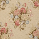 VERVAIN ENGLISH BOUQUET LINEN FLORAL FABRIC ANTIQUE