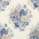 VERVAIN ENGLISH BOUQUET LINEN FLORAL FABRIC CHINA