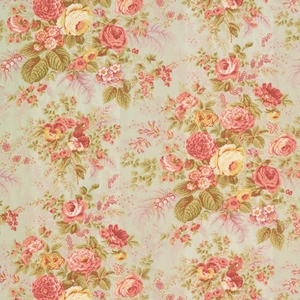 VERVAIN FAIRCHILD COTTON FLORAL FABRIC CELADON