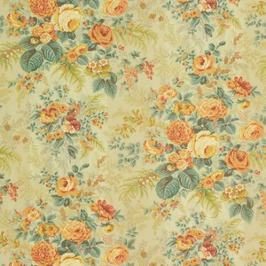 VERVAIN FAIRCHILD COTTON FLORAL FABRIC MELON