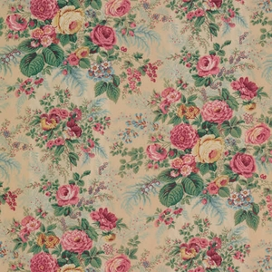 VERVAIN FAIRCHILD COTTON FLORAL FABRIC TEASTAIN