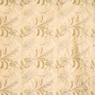 VERVAIN FLEUR DE MER FLORAL EMBROIDERED SILK FABRIC PERIDOT