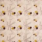 VERVAIN FLEUR DE MER FLORAL EMBROIDERED SILK FABRIC TAHITIAN PEARL