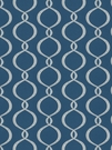 VERVAIN GALATEA EMBROIDERED OGEE FABRIC COBALT
