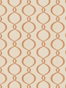 VERVAIN GALATEA EMBROIDERED OGEE FABRIC PUMPKIN
