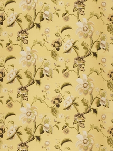 VERVAIN LA SPINETTA TREE OF LIFE FABRIC JONQUIL