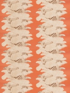 VERVAIN LES PLUMES CHINTZ FABRIC SWEET POTATO