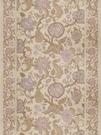 VERVAIN MYSORE PRINT LINEN WITH BORDERS FABRIC AMETHYST