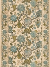 VERVAIN MYSORE PRINT LINEN WITH BORDERS FABRIC LAGOON