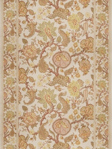 VERVAIN MYSORE PRINT LINEN WITH BORDERS FABRIC POPPY FIELD