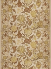 VERVAIN MYSORE PRINT LINEN WITH BORDERS FABRIC VIBURNUM