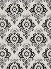 VERVAIN PASCAL DAMASK FABRIC GRAPHITE