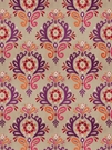 VERVAIN PASCAL DAMASK FABRIC SUNSET ON LINEN