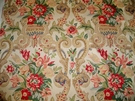 VERVAIN PETRONELLA FLORAL LINEN FABRIC 9 YARDS DOCUMENT BEIGE ROSE