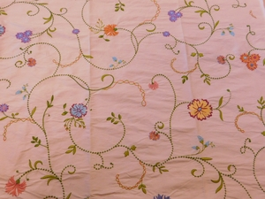 VERVAIN RUPALI FLORAL EMBROIDERED SILK FABRIC KIWI