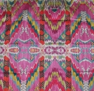 VERVAIN RYTHMIC WOVEN PRINTED FABRIC PINK LOTUS