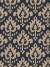 VERVAIN ZAIDA IKAT KILIM FABRIC NIGHT BLUE