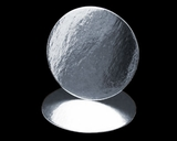 101 - 4 inch Cake Round, Silver Foil Laminated, Smooth Edges. B01
