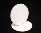 119 - 8 inch White Cake Round, Coated Corrugated Single Wall Cake Board. C03