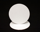 120 - 9 inch White Cake Round, Coated Corrugated Single Wall Cake Board. C03