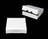 "1219 - 10"" x 10"" x 2 1/2"" White/Brown Timesaver Cookie Box without Window"
