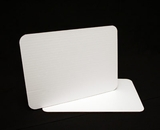 123 - Quarter Sheet Cake Board, Coated White Single Wall Corrugated. C06