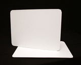 124 - Half Sheet Cake Board, Coated White Single Wall Corrugated. H11