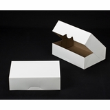 "1247 - 14"" x 10"" x 4"" White/Brown Timesaver Box without Window"