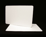 125 - Full Sheet Cake Board, Coated White Single Wall Corrugated. H17