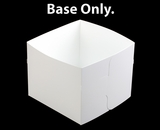"1250 - 12"" x 12"" x 10"" White/White  Lock & Tab Box Base Only, 50 COUNT. A29"