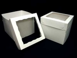 "1250x1251 - 12"" x 12"" x 10"" White/White Lock & Tab Box Set, with Window, 50 COUNT"