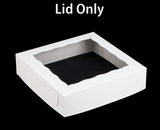 "1251 - 12"" x 12"" x 3"" White/White Lock & Tab Lid with Window Only"