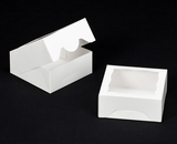 "1474 - 6"" x 6"" x 2 1/2"" White/White with Window, Timesaver Box With Lid"