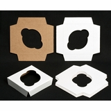 "1497 - 4"" x 4"" x 7/8""  Single Standard Cupcake Insert, Reversible White/Brown"