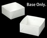 "1718 - 12"" x 12"" x 6"" White/White  Lock & Tab Box Base Only, 50 COUNT"