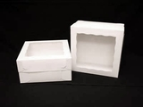 "1718x1251 - 12"" x 12"" x 6"" White/White Lock & Tab Box Set, with Window, 50 COUNT. A17xA09"
