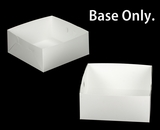 "1719 - 14"" x 14"" x 6"" White/White Lock & Tab Box Base Only 50 COUNT. A21"