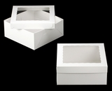 "1719x1720 - 14"" x 14"" x 6"" White/White Lock & Tab Box Set, with Window 50 COUNT. A21xA08"