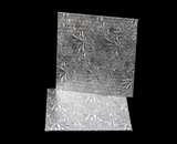 200 - 7 inch Cake Board, Square Silver Foil Single Wall Corrugated. C04