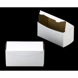 "2047 - 8"" x 4"" x 4"" White/Brown Lock & Tab Box without Window"