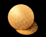 208 - 10 inch Cake Round, Gold Foil Single Wall Corrugated. C05
