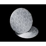 209 - 10 inch Cake Round, Silver Foil Single Wall Corrugated