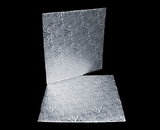 211 - 10 inch Cake Board, Square Silver Foil Single Wall Corrugated. C06